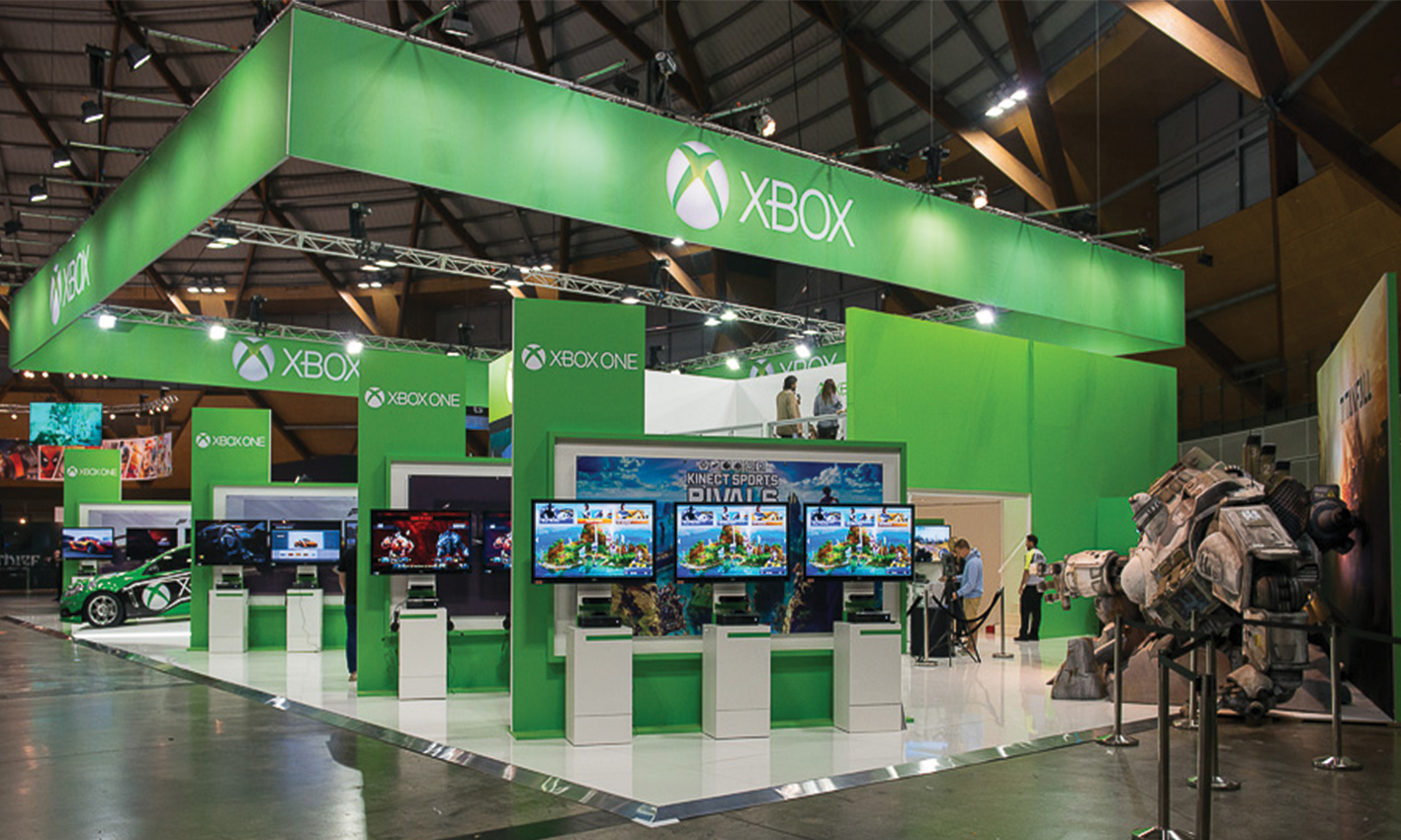 Modular Exhibition Stands Xbox : Exhibition display stands trade show design and installation