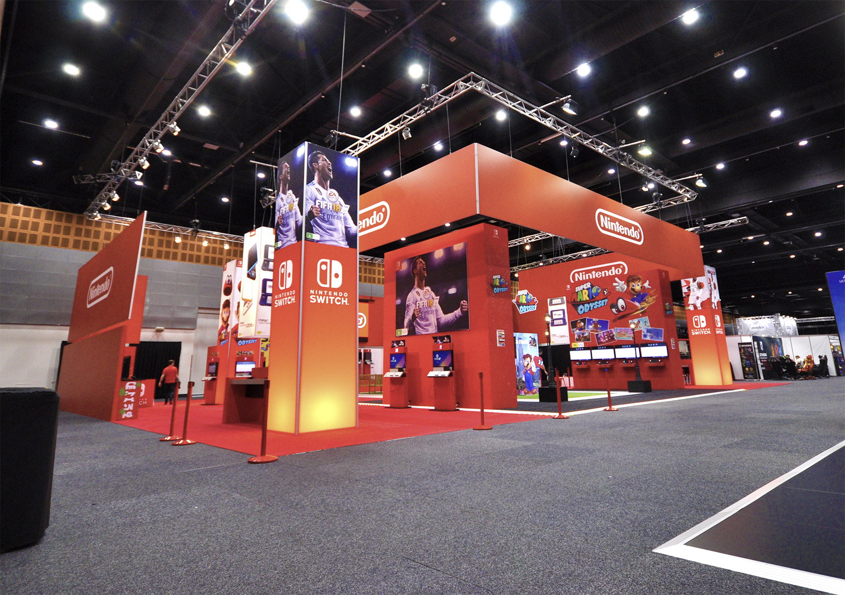Custom Exhibition Stand Game : Icatchers custom event fit out event construction design and